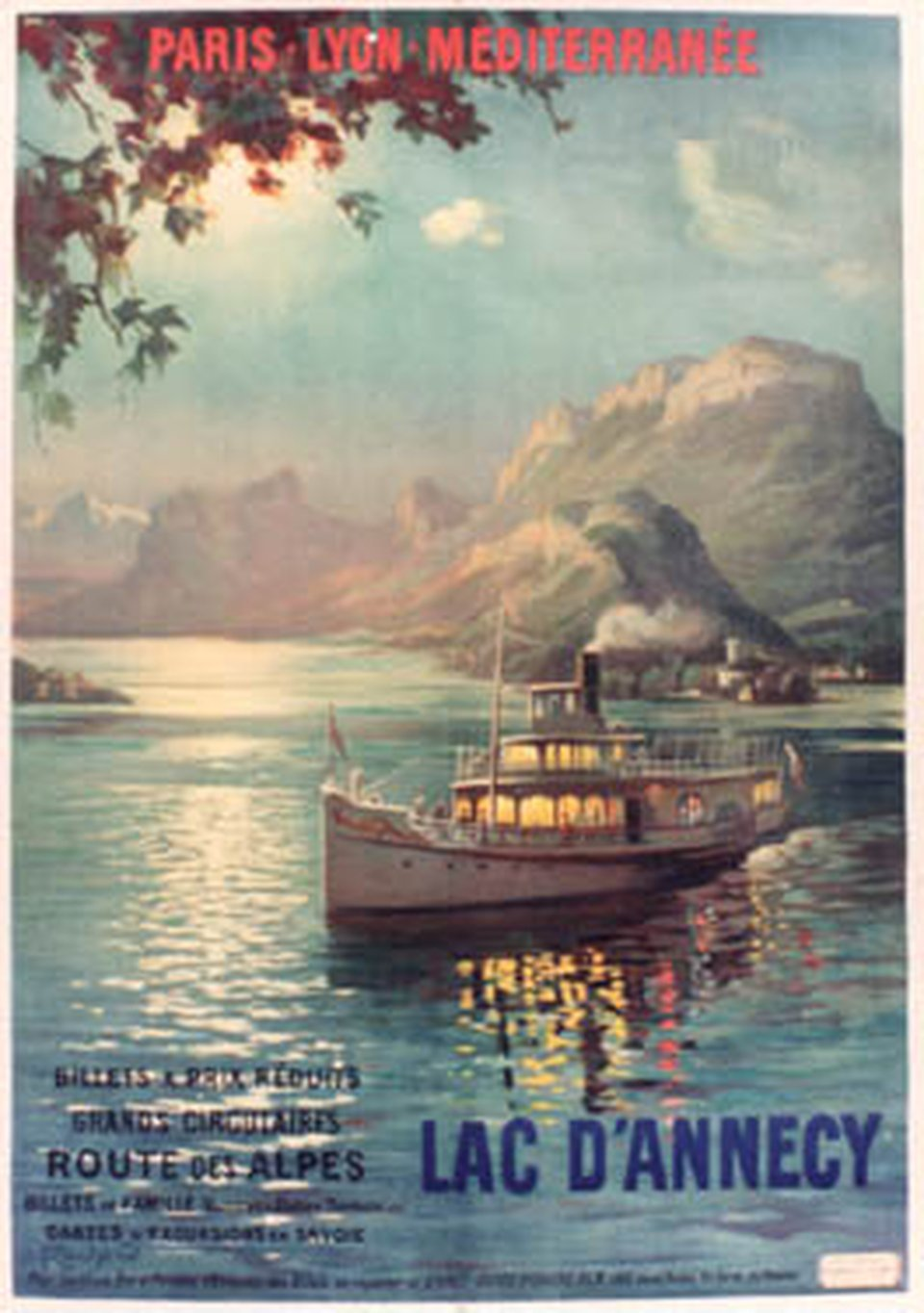 Affiche ancienne – Lac d'Annecy, PLM – Galerie 1 2 3