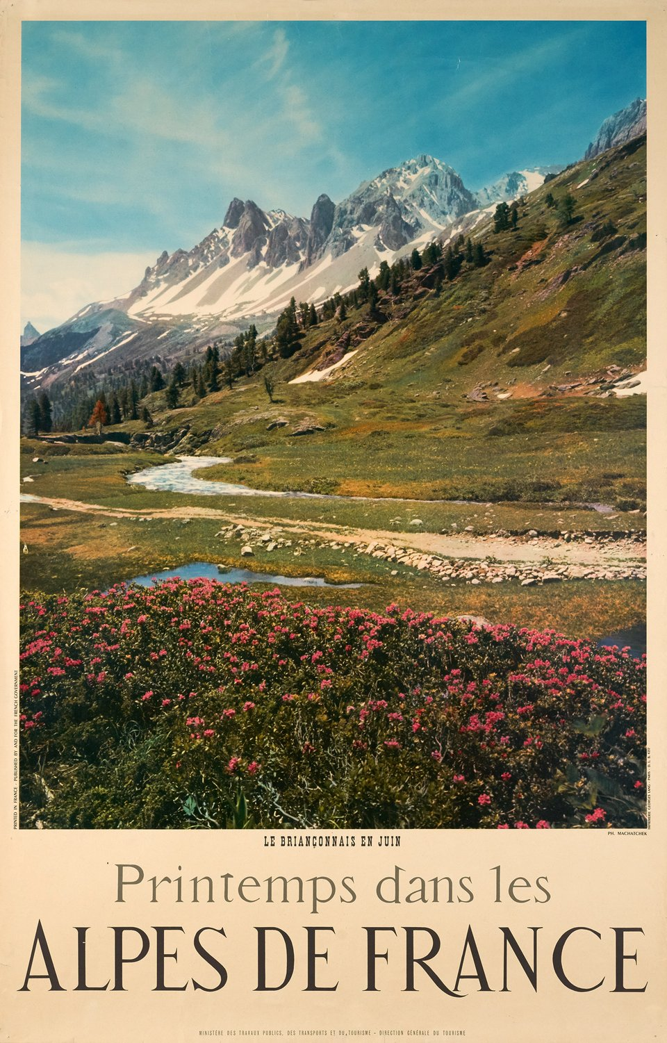 Le Briançonnais, Alpes de France – Affiche ancienne – Karl (photo) MACHATCHEK – 1950