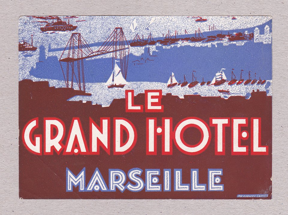 Le Grand Hotel – Affiche ancienne – ANONYME – 1925