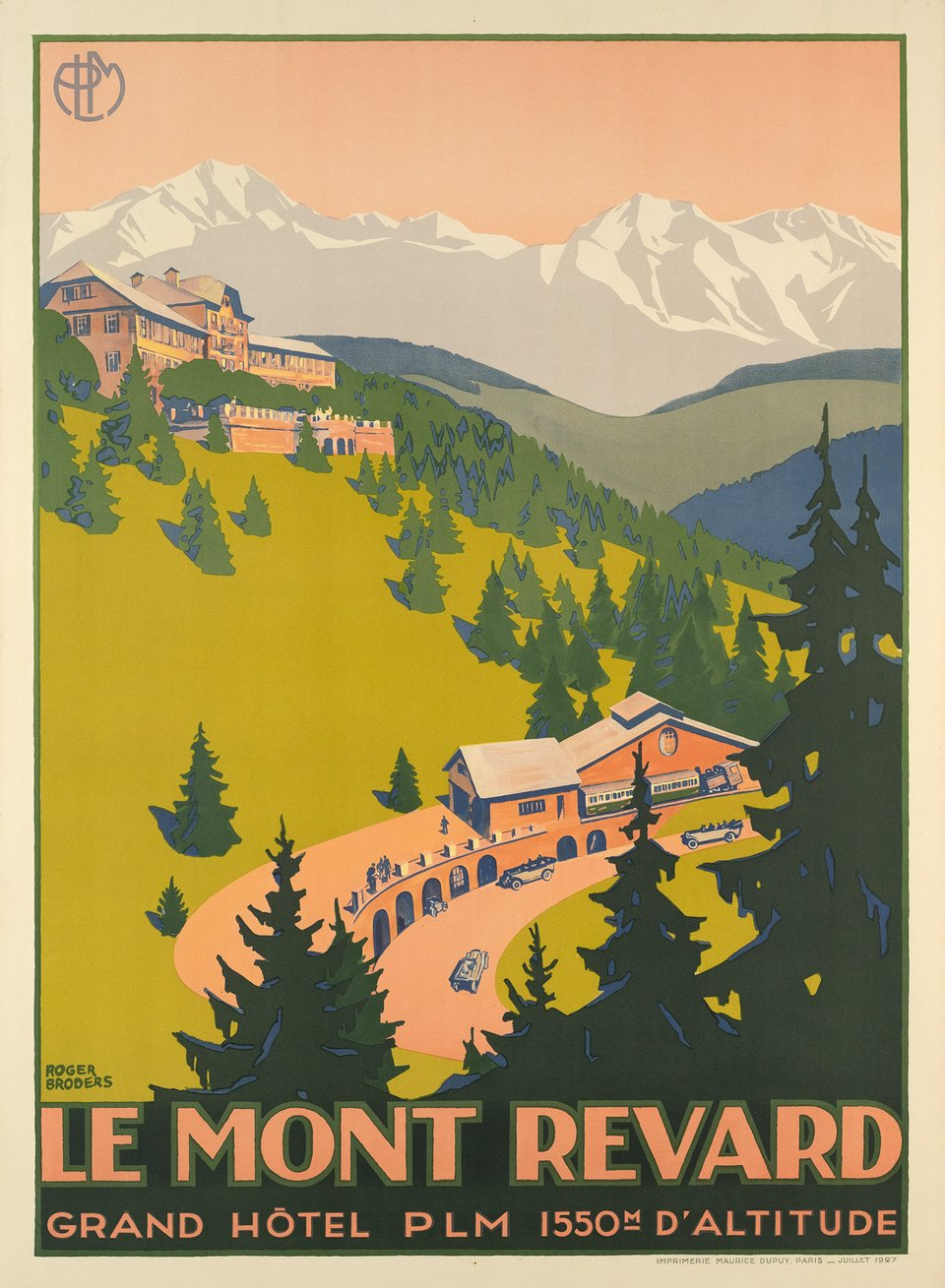 Le Mont Revard – Affiche ancienne – Roger BRODERS – 1930