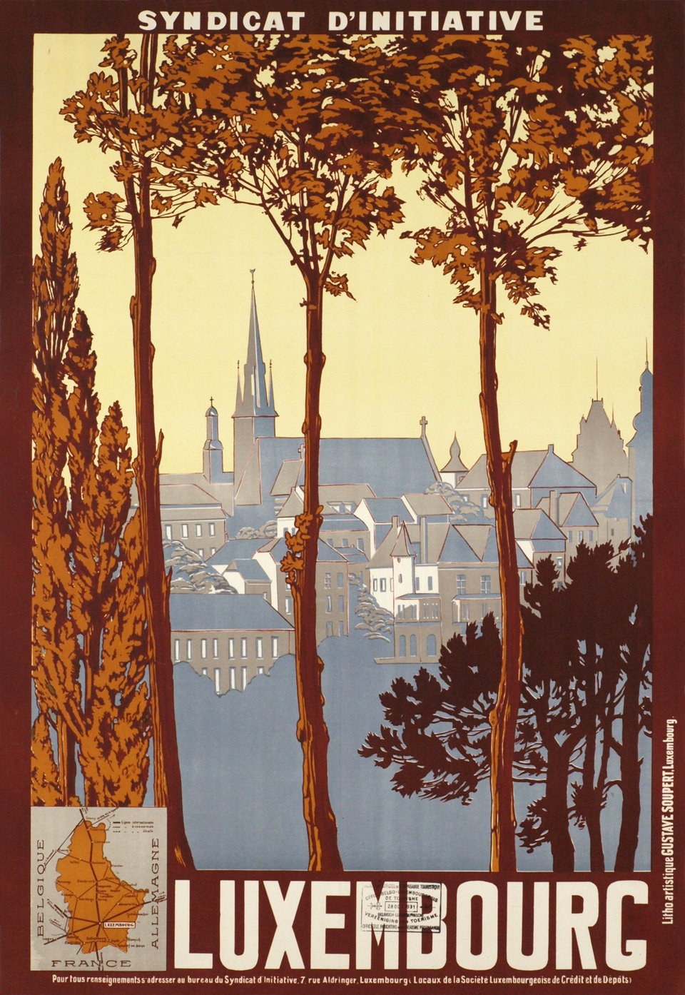 Luxembourg – Vintage poster – Gustave SOUPERT – 1930