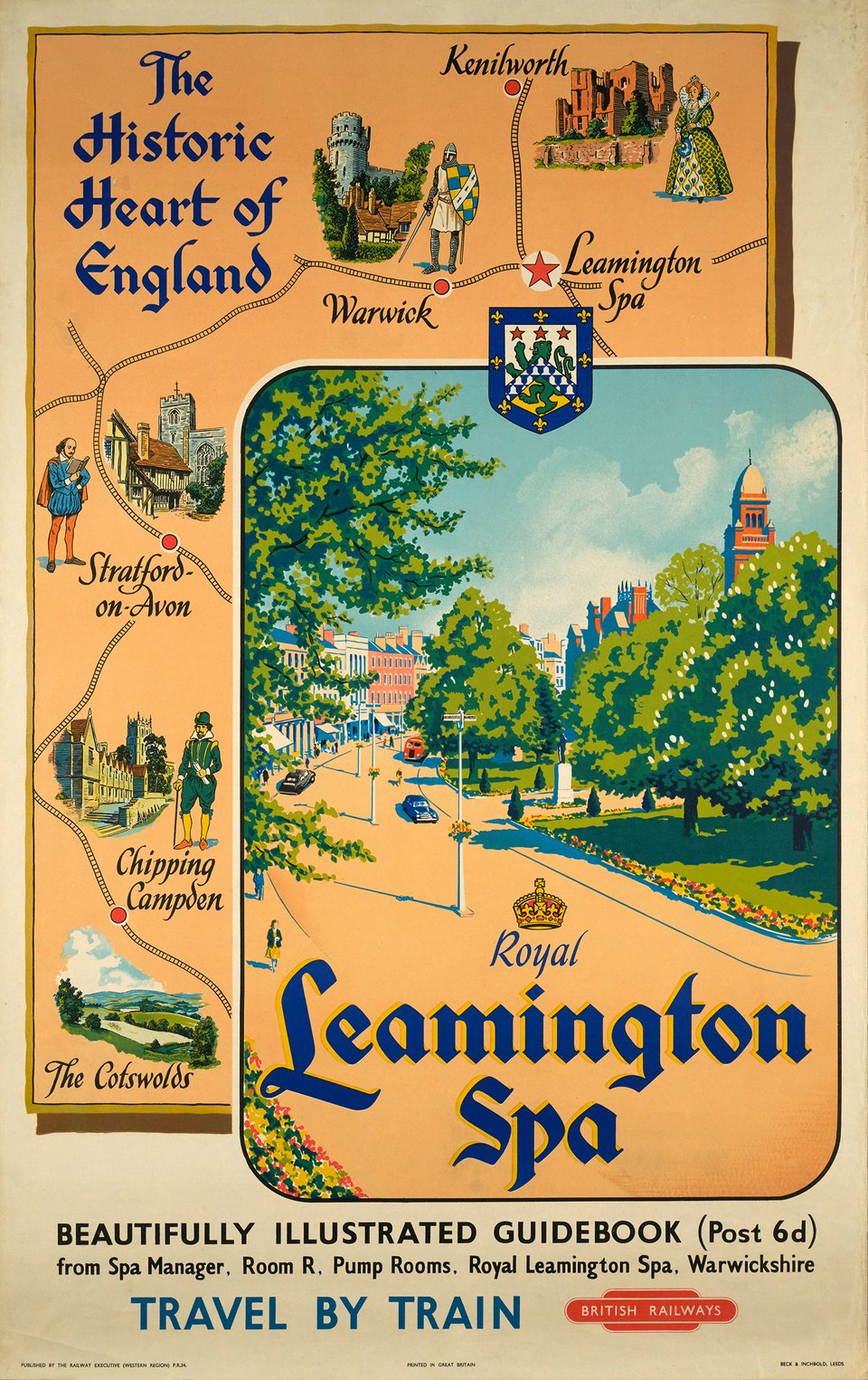 Royal Leamington Spa – Affiche ancienne –  ANONYME – 1950