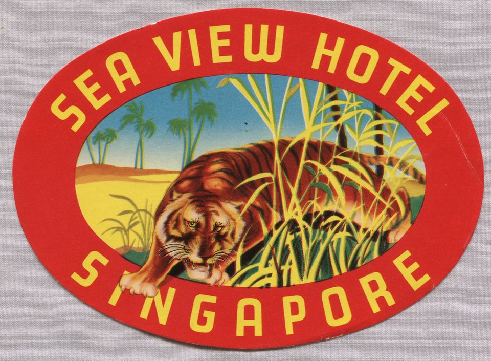 Sea View Hotel – Vintage poster – ANONYME – 1935