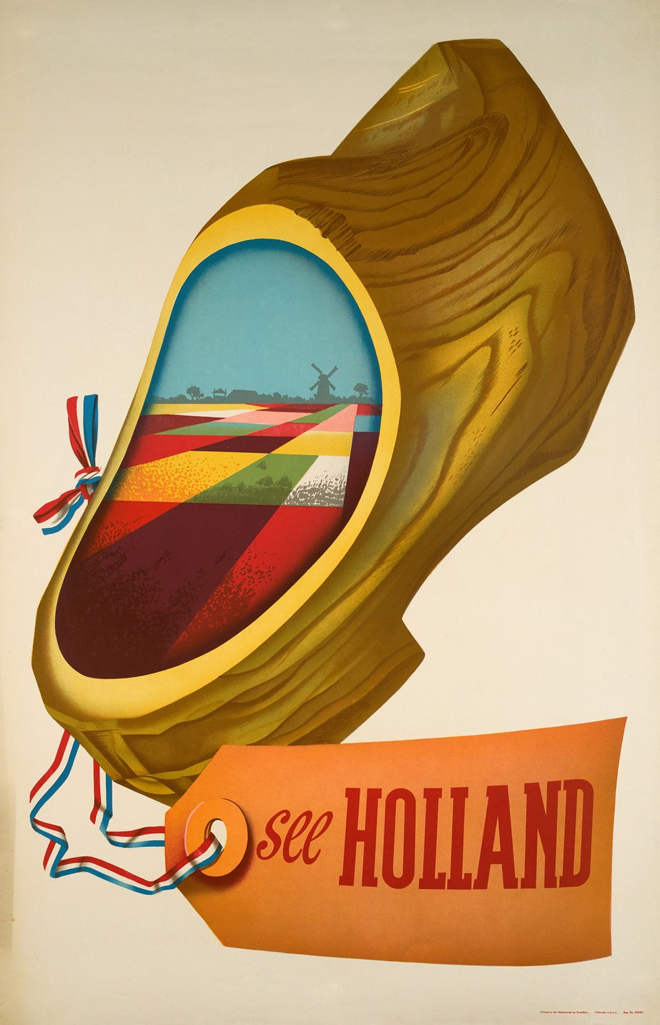 See Holland – Vintage poster –  ANONYME – 1948