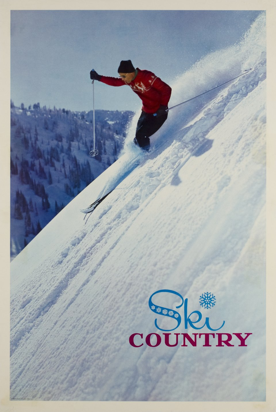 Ski country – Affiche ancienne –  BDB – 1960