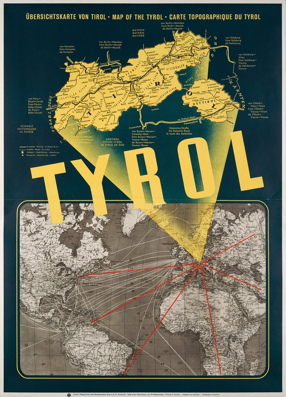 Tyrol – Affiche ancienne – ANONYME – 1950