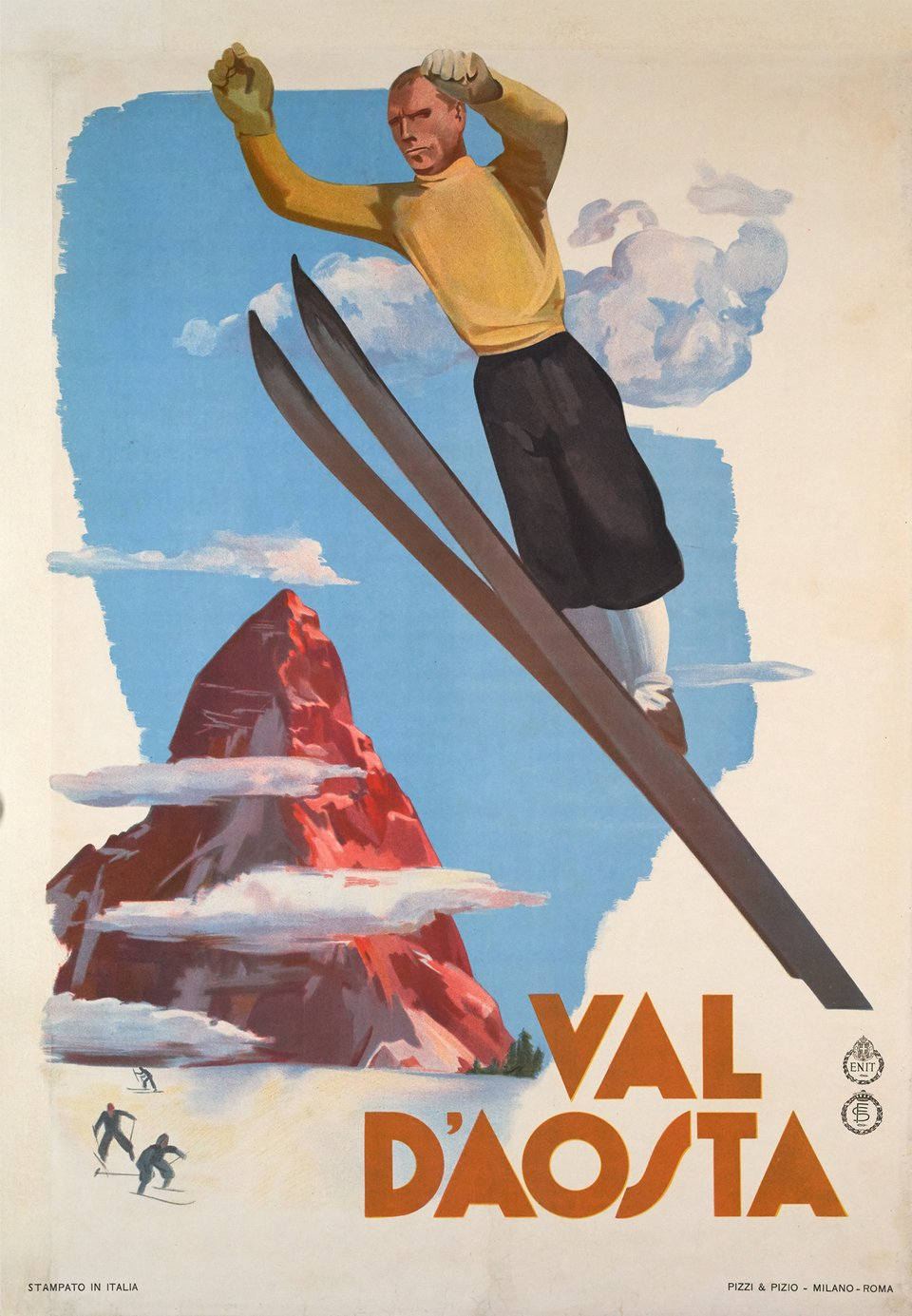 Val d'Aosta – Vintage poster – ANONYMOUS – 1937