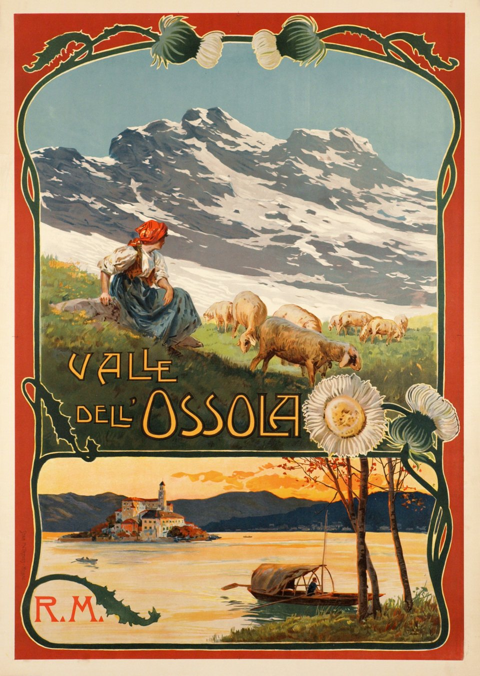 Valle dell Ossola, R.M. – Vintage poster – ANONYMOUS – 1900