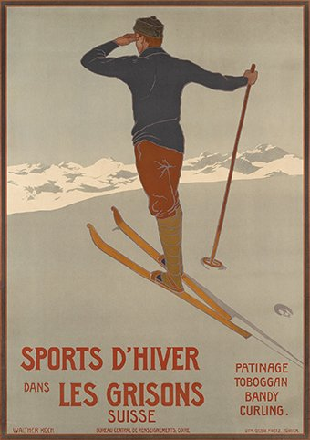 affiche_ancienne_Ski_grisons-antic_poster_old_Graubunden_Plakate_Engadin